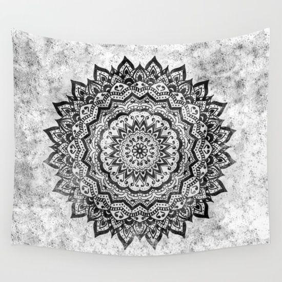 Bohemian Mandala Illustration in Black and White.<br/> Custom request.
