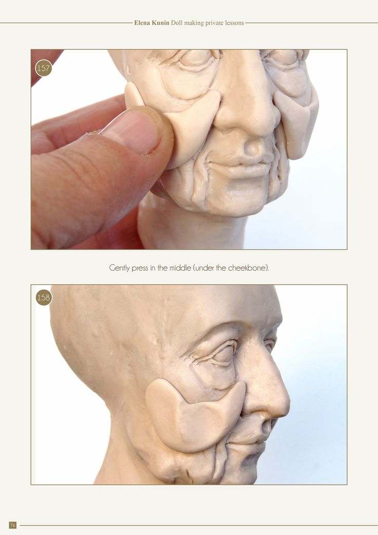 340photos and 4 videos demonstrate all the stages of sculpting. In this part I explain how to sculpt three different heads - a classical girl, an old characte
