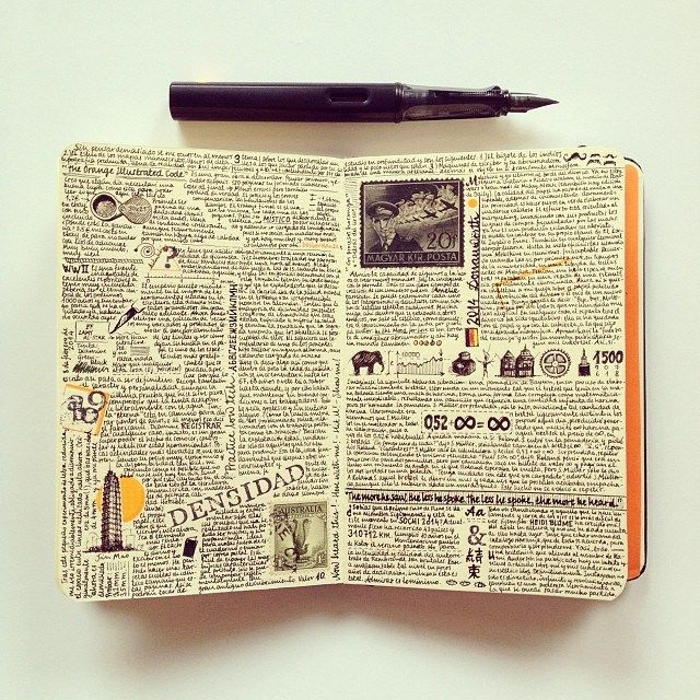 Love lots of interesting writing decorated with small sketches, this is how I do mine, no need to be a perfect artist!