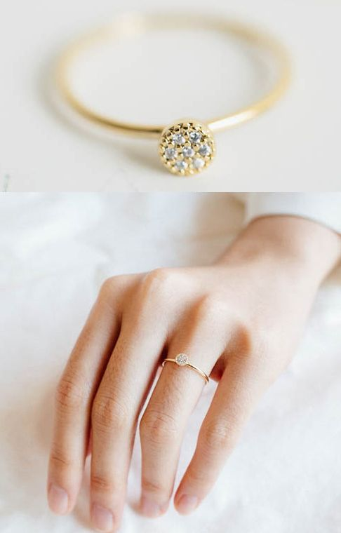 Modern engagement ring for young Simple gold engagement rings for