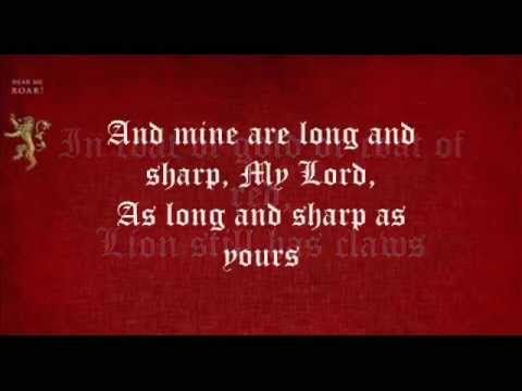 ▶ Game Of Thrones ~ The Rains Of Castamere with lyrics (Lannister Song) - YouTube