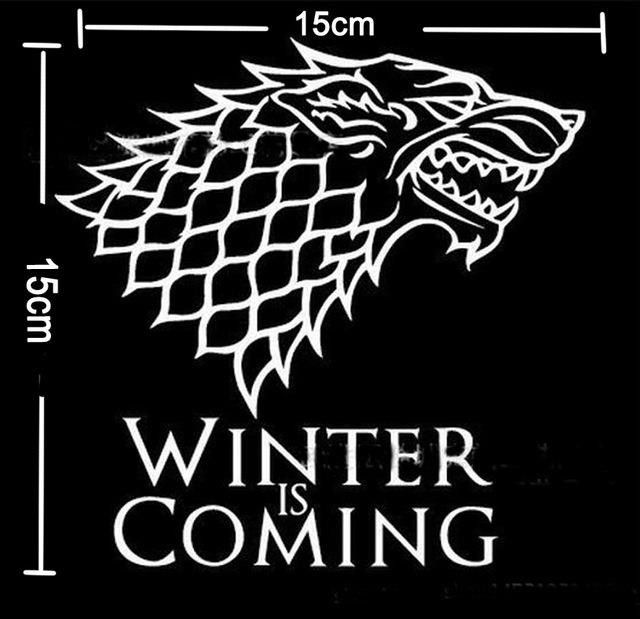 Game of Thrones Wallpaper TV Poster Direwolf Wall Stickers