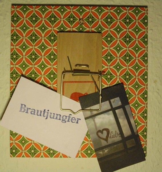 Dekoratives+Mausefallen-Memoboard+für+Notizzettel+von+brautjungfer+-+Hochzeitskarten+auf+DaWanda.com