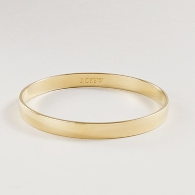 simple gold bangle (and one that fits!) :: j.crew #workapproved