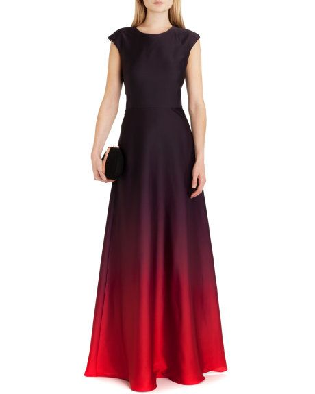 Ombre maxi dress - Red | Dresses | Ted Baker UK