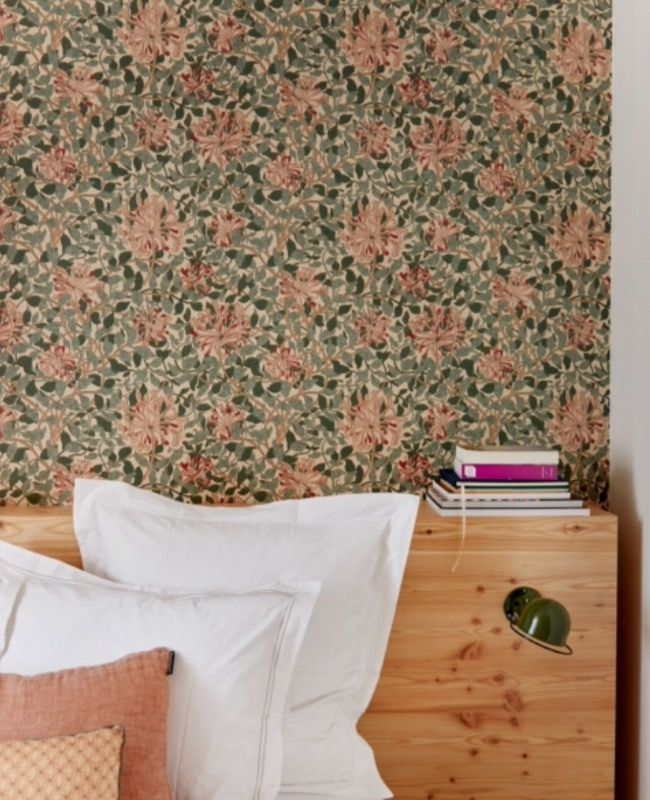 "This flowery wallpaper is from our feature ""Small but Smart"""