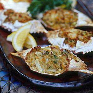 30 Mouth-Watering Crab Recipes | Deviled Crab | CoastalLiving.com