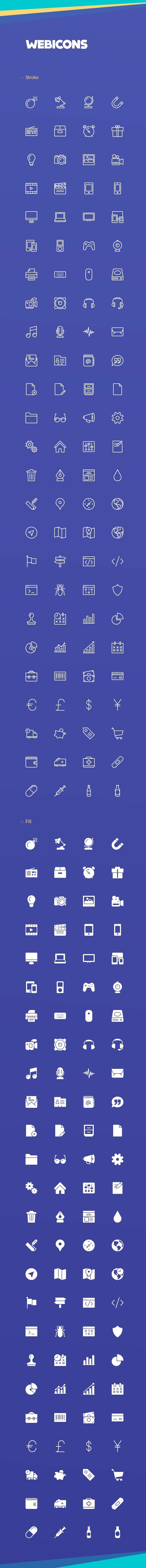 Free Download Webicons – 100 Stroke & Fill Icons