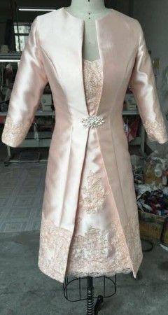 We have affordable (made to order) mother of the bride dresses with long sleeve coat jackets.  All #motherofthebridedresses can be customized to your liking.  Get pricing on this custom design by contacting us directly at www.dariuscordell.com