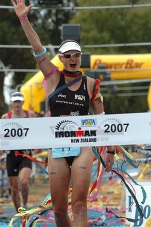 New Zealand Ironman veteran Jo Lawn in action