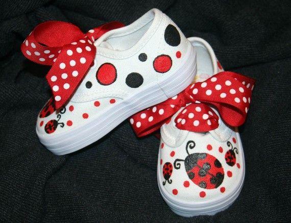 Custom de la chica LADY BUGS tenis zapatos pintados cualquier