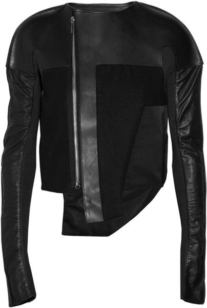 Visions of the Future: RICK OWENS: Leather and Felt Jacket - Lyst