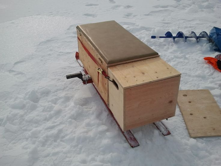 Ice fishing sleds google search pinteres for Ice fishing snowmobile