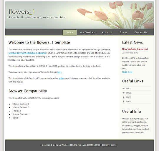 Flowers 01 HTML Template  #Blog #Business #Corporate Link: https://goo.gl/tRteMn