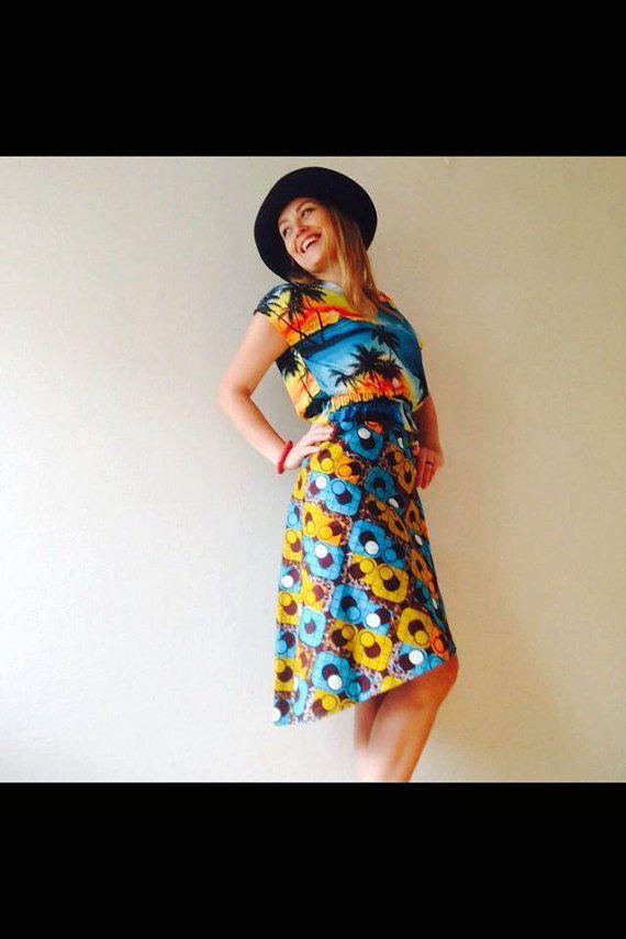 Funky Wrap Skirt by KofiDesigns on Etsy