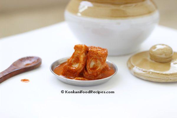 Raw Jackfruit Pickle (Kadgi Nonché) - KonkaniFoodRecipes.com