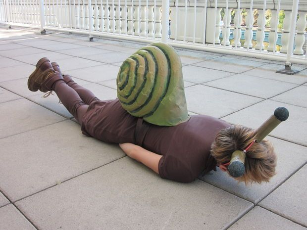 Maken van een kostuum van de slak (lage begroting) - cadagile.com