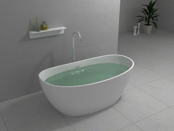 Banheira de Imersão BOWL da Unique SPA, feita em Superfície Sólida (www.uniquespa.com.br)