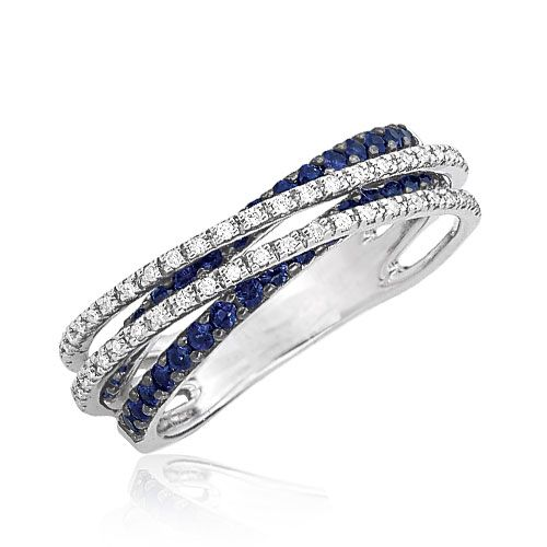 Diamond with Sapphire Band Ring Click here to shop beautiful diamond rings and jewelries: http://trkur1.com/203492/19175