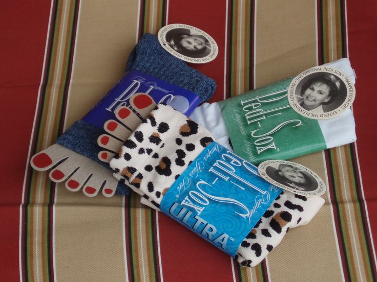 Original Pedi-Sox® Classic Professional, Lite and Ultra.  Keep freshly pedicured feet comfy, cozy & clean !  Toenails dry flawlessly !