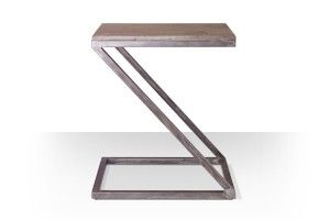 Swoon Editions Industrial style side table: The Z-shaped Sullivan, just £69