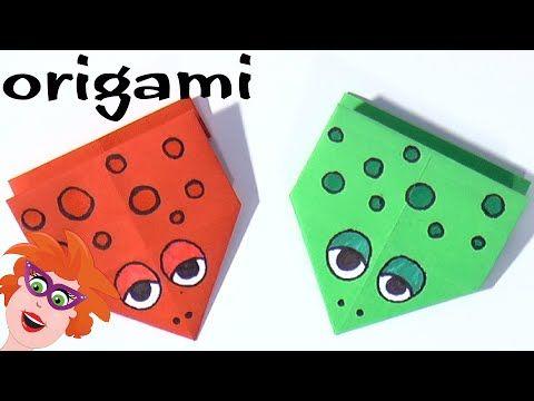 Origami: springende kikker vouwen van papier (moeilijk) - YouTube