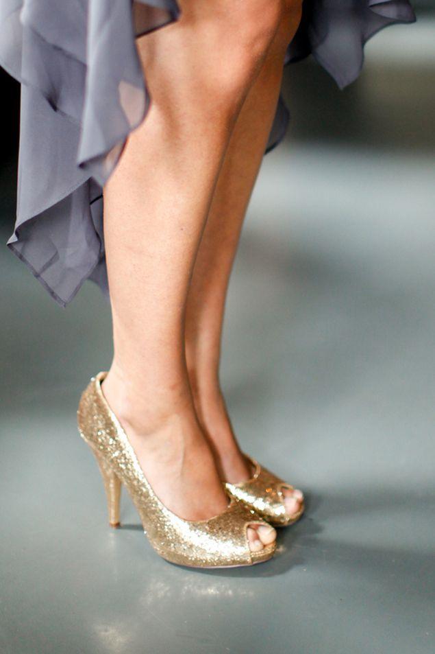 Gold Bridesmaid Shoes - Photo Source • Dallas Curow Photography
