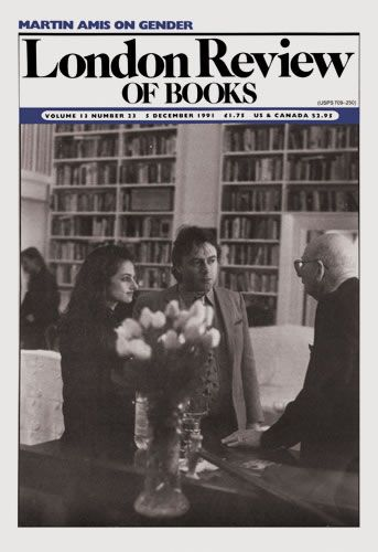 London Review of Books. 5 December 1991. Cover: Arianne Zurcher.