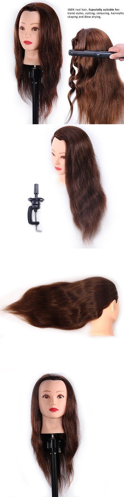 Hair and Makeup Mannequins: 24 Mannequin Head 100% Human Hair Hairdresser Training Head Manikin Cosmetology -> BUY IT NOW ONLY: $60.49 on eBay!
