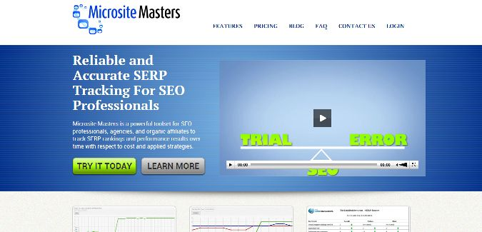 Microsite Masters is a simple but accurate and effective keyword and serp tracking tool.
