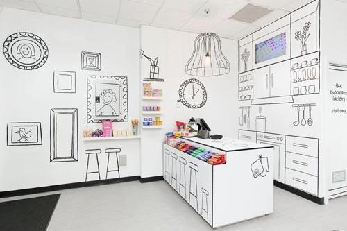 Candy shop in 2d mockup interior design pinterest for 2d room design