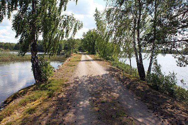 Banvallsleden med Åsnen på begge sider