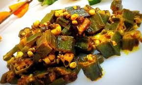 Bhindi Ki Subji (stir-fried okra)