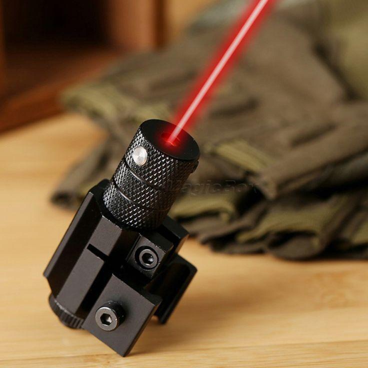 Caliente Potente Táctica de Mini Punto Rojo Mira Láser Alcance Tejedor de Picatinny Monte para Rifle Del Arma de la Pistola de Tiro Airsoft Caza del Riflescope