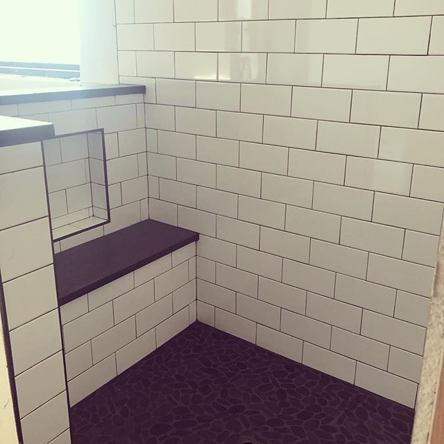 4x8 Subway Tile With Seat Subway Tile Showers Shower Seats