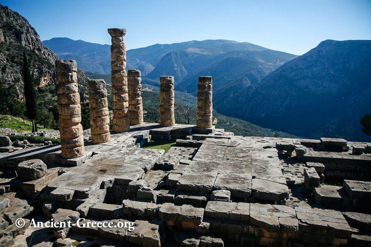 on the Southern slopes of Parnassos mountain -  the temple of Apollo