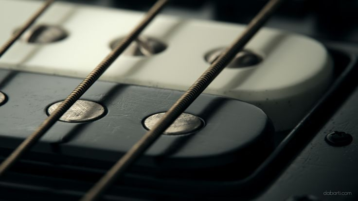 Still shot from CGI clips. Rendered with V-Ray RT GPU in Autodesk 3ds max. Closeup of electric guitar from Studio Dabarti.