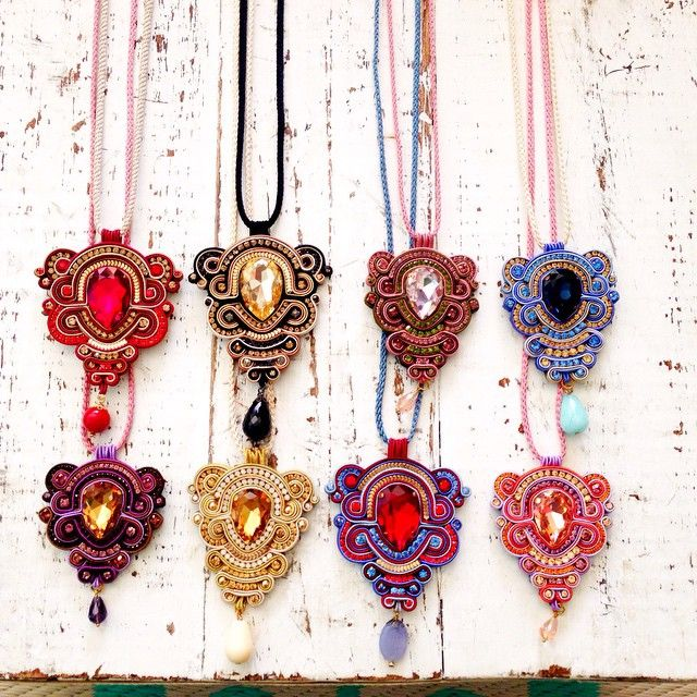 #ShareIG Dopodomani necklaces! #colors #soutache #originales #siemprealgonuevo…