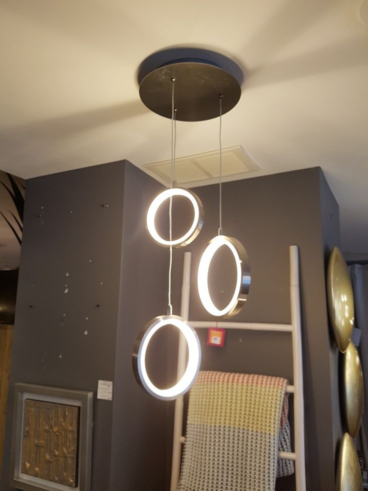 Our LED rings on a triple canopy look great over a kitchen island.
