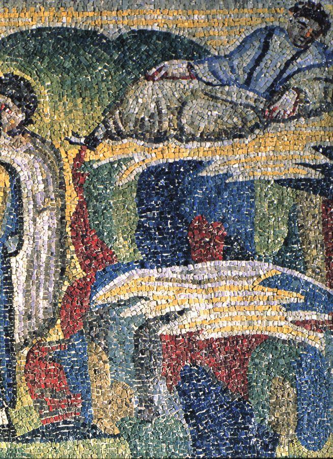 Santa Maria Maggiore, Roma, I mosaici , 432-440. Un particolare. Foto di Pavel Otdelnov