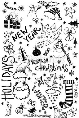Christmas Doodle Royalty Free Stock Photo