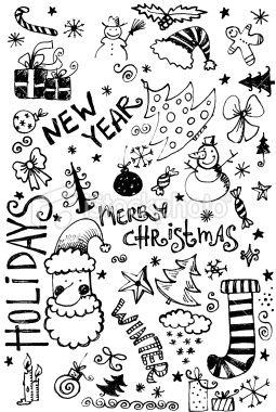 Christmas Doodle Royalty Free Stock Photo