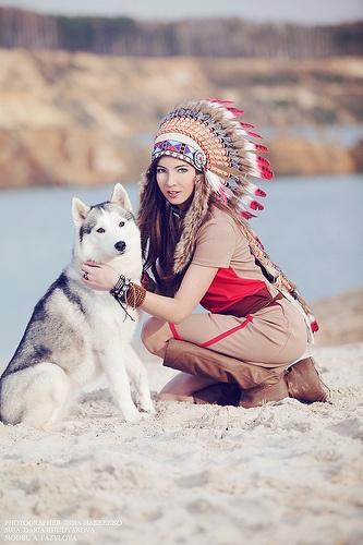 Native American and Husky