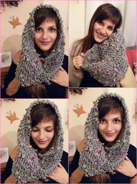 Smaro Knitting Cowl - Γιακάς με βελόνες Σμαρώ   Marieta's Yarnland