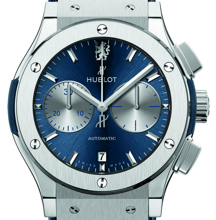 "Hublot Classic Fusion Chronograph Chelsea FC Watch - by Kenny Yeo - A Chelsea-inspired Hublot? Absolutely. More at: aBlogtoWatch.com - ""In 2010, Hublot pulled off one hugely impressive marketing coup when the small but charismatic watch brand somehow managed to fight off larger companies to become the official timekeeper of the South Africa 2010 Fifa World Cup. The World Cup, which takes place every four years, is consistently watched by over a billion people..."""