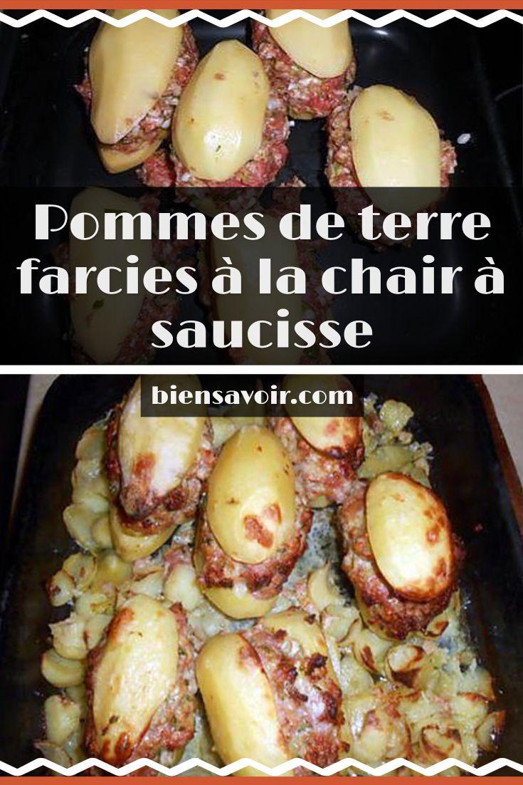 Pomme De Terre Farcie Chair A Saucisse : pomme, terre, farcie, chair, saucisse, Plaisir, Cuisine
