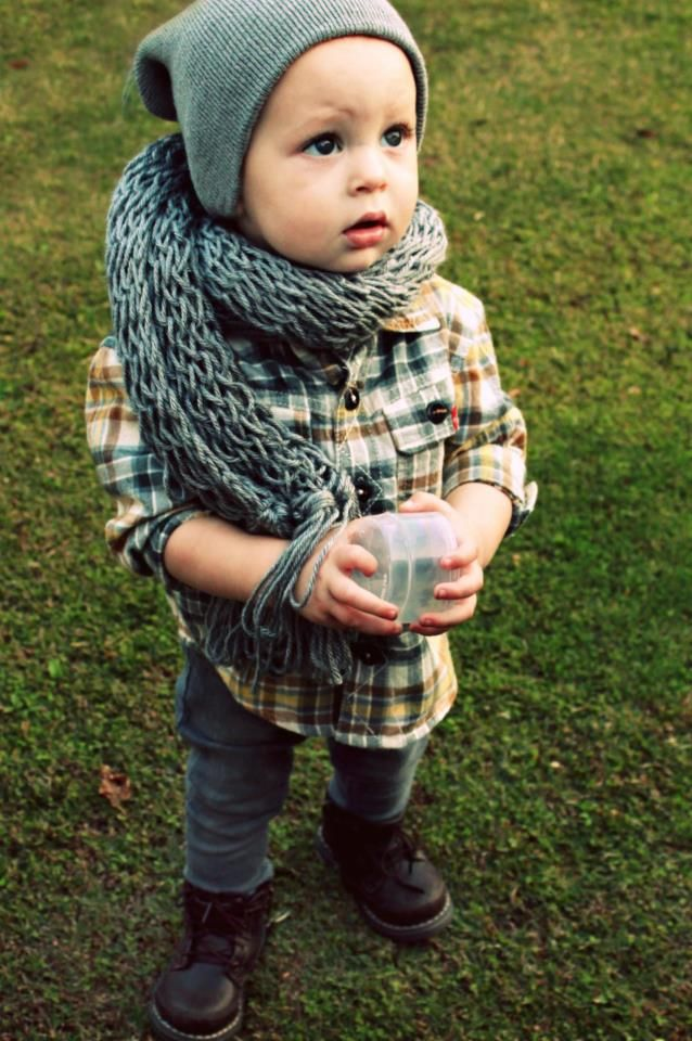 scarf and plaid!