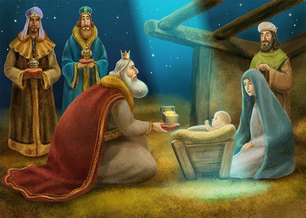 Los Reyes Magos visitan al Niño Jesús. #NacimientoJesus