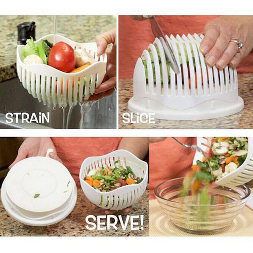 60 Second Vegetable Cutter Bowl Salad Maker Healthy Fresh Salads
