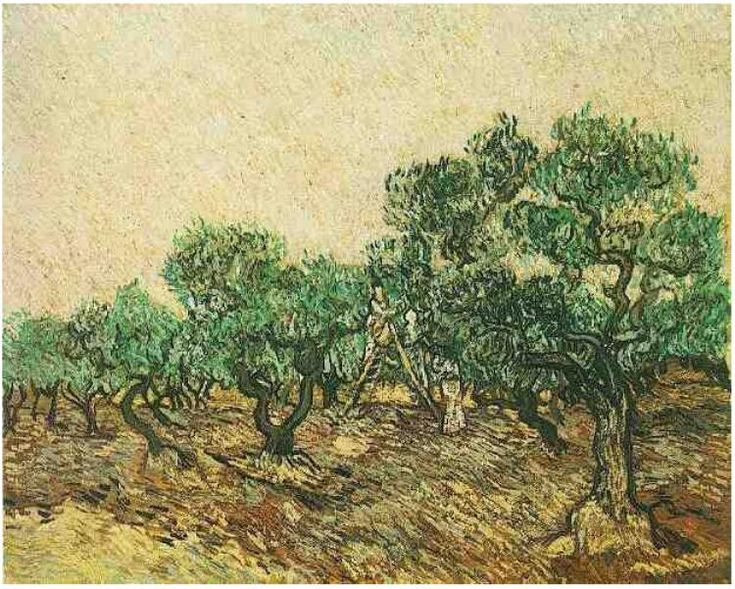Olive Picking Vincent van Gogh Painting, Oil on Canvas Saint-Rémy: December, 1889 Collection Basil P. and Elise Goulandris Lausanne, Switzerland, Europe F: ;654, ;JH: ;1868